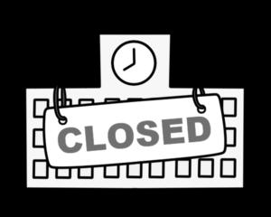 臨時休校 学校閉鎖 白黒フリー素材