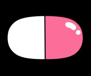 薬 イラスト カプセル フリー素材 ピンク