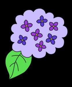 あじさい フリー素材 雨の日イラスト 紫