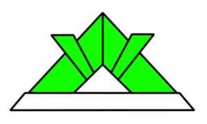 折り紙兜 フリー素材 こどもの日イラスト 緑