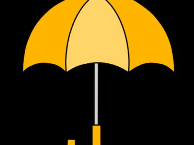 傘 フリー素材 雨 梅雨 オレンジ