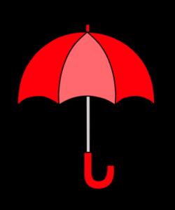 傘 フリー素材 雨 梅雨 赤
