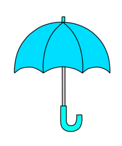傘 フリー素材 雨 梅雨 水色