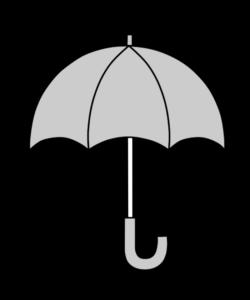 傘 白黒フリー素材 雨 梅雨