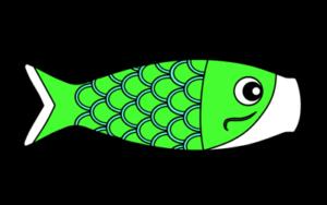 鯉のぼり フリー素材 こどもの日イラスト 緑