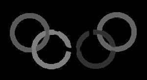 オリンピック 五輪イラスト 白黒フリー素材