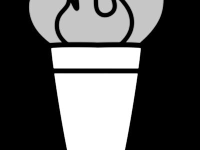 オリンピック 聖火イラスト 白黒フリー素材