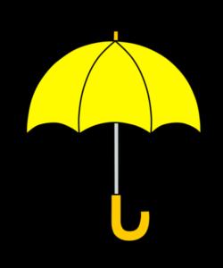 傘 フリー素材 雨 梅雨 黄色
