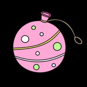 ヨーヨー 夏祭りフリー素材 ピンク