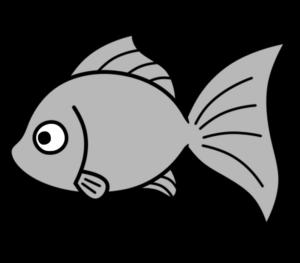 金魚 白黒フリー素材 夏イラスト 無料