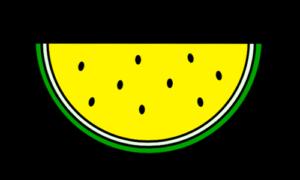 スイカ フリー素材 黄色