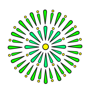 花火 フリー素材 緑