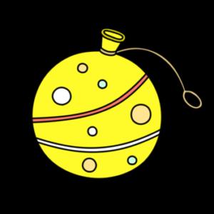 ヨーヨー 夏祭りフリー素材 黄色