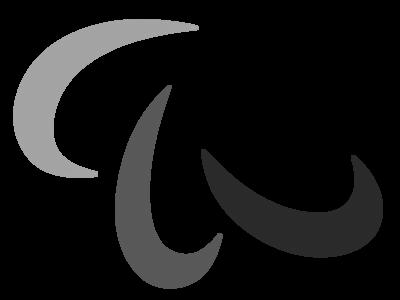 パラリンピックロゴ 白黒フリー素材
