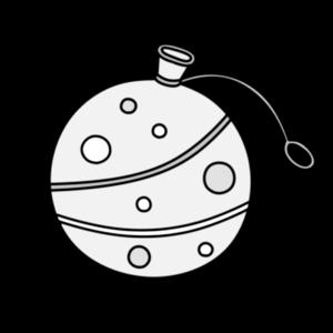 ヨーヨー 夏祭り白黒フリー素材