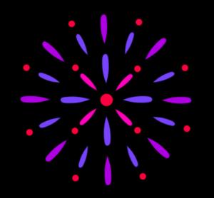 花火 フリー素材 紫