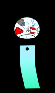 風鈴 フリー素材 夏イラスト 金魚