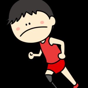 義足ランナー 男性選手 フリー素材 パラリンピックイラスト