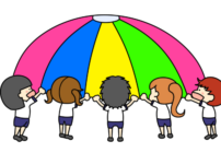 パラバルーン 幼稚園・保育園 運動会 フリー素材