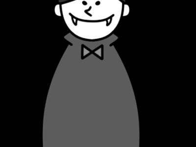 ドラキュラ 白黒フリー素材 ハロウィン 吸血鬼 バンパイヤ