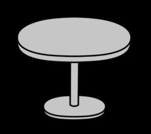 丸いテーブル フリー素材 シルバー