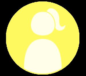 アイコン デフォルト風 女性 黄色 フリー素材