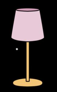 電気スタンド フリー素材 インテリアイラスト ピンク