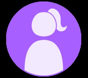 アイコン デフォルト風 女性 紫 フリー素材