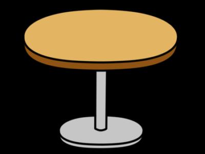 丸いテーブル フリー素材 木