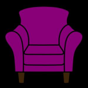 1人用ソファ フリー素材 紫