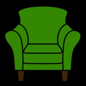 1人用ソファ フリー素材 緑