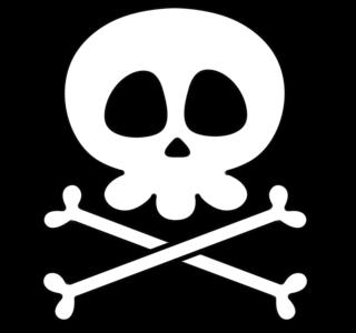 ドクロマーク フリー素材 ガイコツ 骸骨