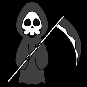 死神 白黒フリー素材 ハロウィン