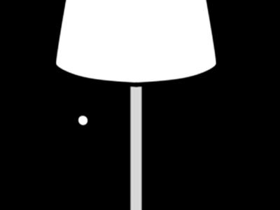 電気スタンド 白黒フリー素材 インテリアイラスト