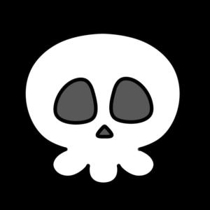 ドクロ フリー素材 ガイコツ 骸骨