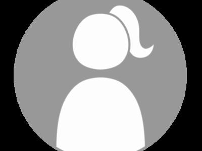アイコン デフォルト風 女性 白黒フリー素材