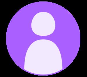 アイコン デフォルト風 紫 フリー素材