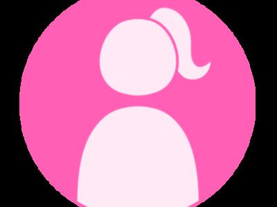 アイコン デフォルト風 女性 ピンク フリー素材