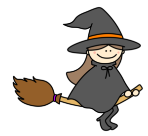 魔女 フリー素材 ハロウィン かわいい