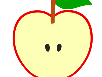 りんご リンゴ 林檎 フリー素材 カット 断面 半分