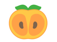 柿 フリー素材 断面 カット