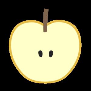 梨 フリー素材 断面 カット 半分