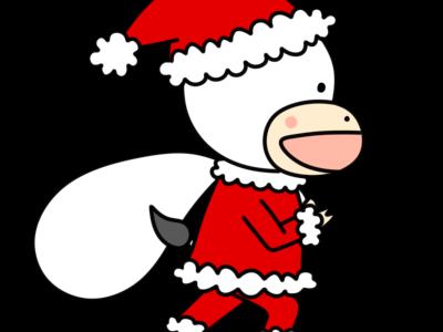 牛 クリスマス フリー素材 サンタ