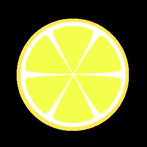 レモン 柚子 フリー素材 断面 カット