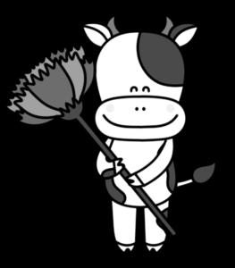牛 白黒フリー素材 母の日