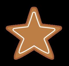 クリスマスクッキー フリー素材 無料イラスト 星