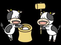 もちつき 牛 フリー素材 お正月イラスト