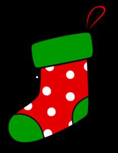 クリスマス 靴下イラスト フリー素材 水玉