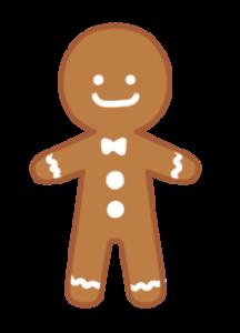 ジンジャーマンクッキー フリー素材 クリスマスイラスト