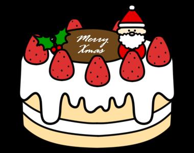 クリスマスケーキ フリー素材 無料イラスト ホールケーキ クリーム